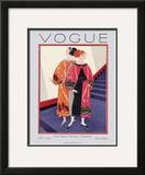 Vogue Cover - November 1925 Framed Giclee Print by Georges Lepape