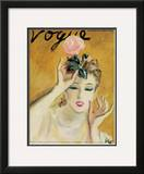 "Vogue Cover - November 1937 Framed Giclee Print by Carl ""Eric"" Erickson"
