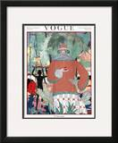 Vogue Cover - January 1920 Framed Giclee Print by Georges Lepape