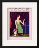 Vogue Cover - December 1925 Framed Giclee Print by Pierre Brissaud