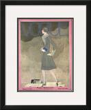 Vogue Cover - September 1928 Framed Giclee Print by Georges Lepape