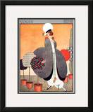 Vogue Cover - February 1914 Framed Giclee Print by George Wolfe Plank