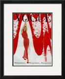 Vogue Cover - December 1958 Framed Giclee Print by William Bell