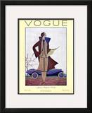 Vogue Cover - March 1926 Framed Giclee Print by Georges Lepape
