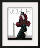 Vogue Cover - October 1929 Framed Giclee Print by Georges Lepape