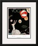 Vogue Cover - March 1925 Framed Giclee Print by Georges Lepape