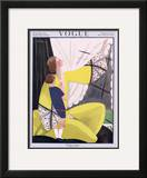 Vogue Cover - February 1922 Framed Giclee Print by Georges Lepape