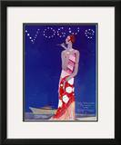 Vogue Cover - July 1926 Framed Giclee Print by Eduardo Garcia Benito