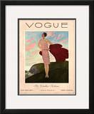 Vogue Cover - July 1927 Framed Giclee Print by Pierre Brissaud