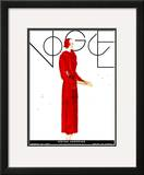 Vogue Cover - March 1931 Framed Giclee Print by Georges Lepape
