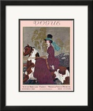 Vogue Cover - September 1927 Framed Giclee Print by Pierre Brissaud
