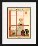 Vogue Cover - March 1920 Framed Giclee Print by Harriet Meserole