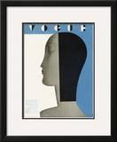 Vogue Cover - January 1930 Framed Giclee Print by Eduardo Garcia Benito