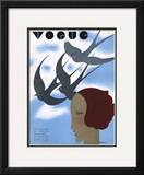 Vogue Cover - February 1930 Framed Giclee Print by William Bolin