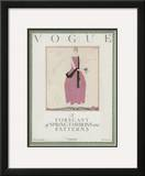 Vogue Cover - February 1920 Framed Giclee Print by Georges Lepape