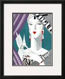 Vogue Cover - October 1926 Framed Giclee Print by Eduardo Garcia Benito