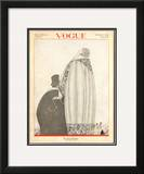 Vogue Cover - October 1920 Framed Giclee Print by Georges Lepape