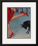 Vogue Cover - February 1958 Framed Giclee Print by Richard Rutledge