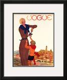 Vogue Cover - September 1931 Framed Giclee Print by Georges Lepape