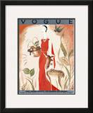 Vogue Cover - August 1930 Framed Giclee Print by Eduardo Garcia Benito