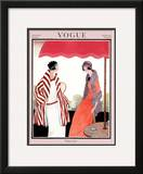 Vogue Cover - July 1922 Framed Giclee Print by Helen Dryden
