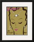 Vogue Cover - December 1938 Framed Giclee Print by Eduardo Garcia Benito