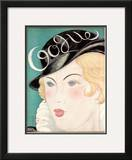 Vogue Cover - October 1931 Framed Giclee Print by Georges Lepape