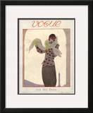 Vogue Cover - October 1923 Framed Giclee Print by Georges Lepape