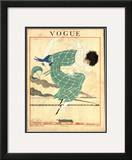 Vogue Cover - June 1918 Framed Giclee Print by Georges Lepape