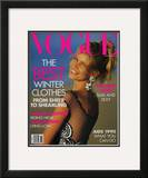 Vogue Cover - November 1990 Framed Giclee Print by Patrick Demarchelier