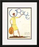 Vogue Cover - May 1927 Framed Giclee Print by Georges Lepape