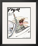 "Vogue Cover - November 1938 Framed Giclee Print by Carl ""Eric"" Erickson"