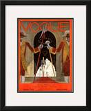 Vogue Cover - March 1929 Framed Giclee Print by Georges Lepape