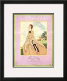 Vogue Cover - February 1926 Framed Giclee Print by Pierre Brissaud