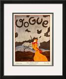 Vogue Cover - October 1924 Framed Giclee Print by Georges Lepape