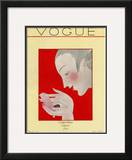 Vogue Cover - December 1923 Framed Giclee Print by Georges Lepape