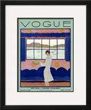 Vogue Cover - August 1927 Framed Giclee Print by Georges Lepape