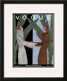 Vogue Cover - December 1931 Framed Giclee Print by Georges Lepape