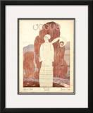 Vogue Cover - January 1924 Framed Giclee Print by Georges Lepape