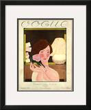 Vogue Cover - December 1924 Framed Giclee Print by Georges Lepape