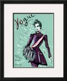 Vogue Cover - October 1936 Framed Giclee Print by Christian Berard
