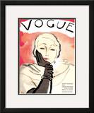 "Vogue Cover - November 1930 Framed Giclee Print by Carl ""Eric"" Erickson"