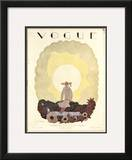 Vogue Cover - June 1926 Framed Giclee Print by Georges Lepape
