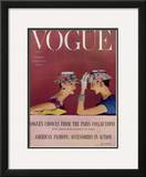 Vogue Cover - March 1954 Framed Giclee Print by Richard Rutledge