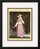 Vogue Cover - July 1924 Framed Giclee Print by Georges Lepape