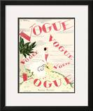 Vogue Cover - June 1924 Framed Giclee Print by Georges Lepape