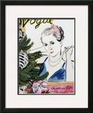 "Vogue Cover - December 1934 Framed Giclee Print by Carl ""Eric"" Erickson"