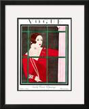 Vogue Cover - October 1924 Framed Giclee Print by Harriet Meserole