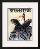 "Vogue Cover - September 1937 Framed Giclee Print by Carl ""Eric"" Erickson"