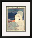 Vogue Cover - December 1917 Framed Giclee Print by Georges Lepape